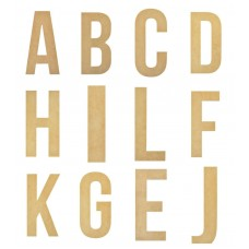 Alphabet Large Thin Wooden Letters 28cm