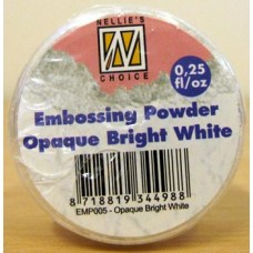 Nellie's Choice Embossing Powder 25g - Opaque bright white