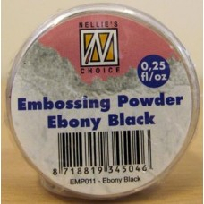 Nellie's Choice Embossing Powder 25g - Ebony black