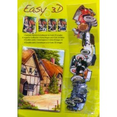 Cardmaking kit - Cars Makes 4 Cards - Easy 3D