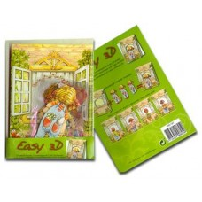 Cardmaking kit - Easy 3D Green makes 4 cards