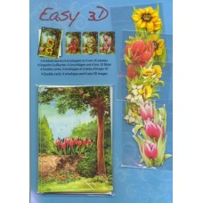 Cardmaking kit - Tulips makes 4 cards - Easy 3D