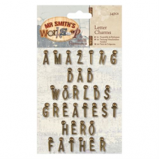 Papermania Letter Charms (34pcs) - Mr Smith's Workshop