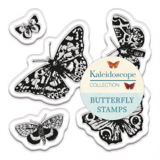 Papermania January 2017 - Butterfly Stamps (5pcs) - Kaleidoscope