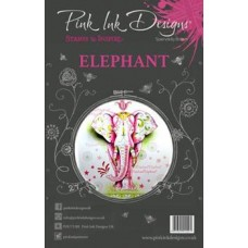 Pink Ink Designs A5 Clear Stamp Set - Elephant