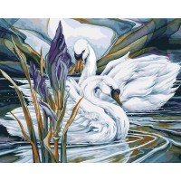 Plaid paint by number kit - Swan Lake 22062