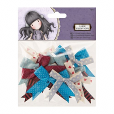 Santoro Gorjuss Girl Ribbon Trim Bows (12pcs) - Tweed