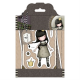 Santoro Gorjuss Girl Rubber Stamps - Tweed - My Own Universe