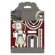 Santoro Gorjuss Girl Rubber Stamps - Tweed - Holly