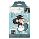 Santoro Gorjuss Girl Rubber Stamps - Awashed