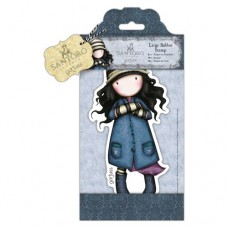Santoro Gorjuss Girl Large Rubber Stamp - Toadstools