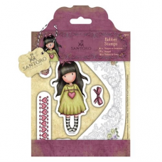 Santoro Gorjuss Girl Rubber Stamps - Heartfelt