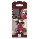 Santoro Gorjuss Girl Rubber Stamps - No. 10 Purrrrrrfect Love