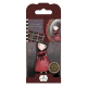 Santoro Gorjuss Girl Rubber Stamps - No. 15 The Black Star