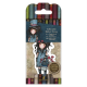 Santoro Gorjuss Girl Rubber Stamps - No. 29 The Hatter