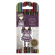 Santoro Gorjuss Girl Rubber Stamps - No. 32 Little Violet