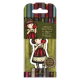 Santoro Gorjuss Girl Rubber Stamps - No. 37 Dear Apple