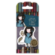 Santoro Gorjuss Girl Rubber Stamps - No. 40 The Owl