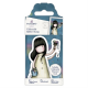 Santoro Gorjuss Girl Rubber Stamps - No. 46 Rainbow Dreams