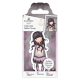 Santoro Gorjuss Girl Rubber Stamps - No. 50 Jar of Hearts