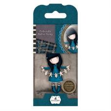 Santoro Gorjuss Girl Rubber Stamps - No. 06 I Found My Family In A Book V2