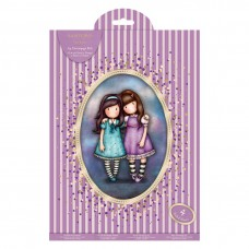 Santoro Gorjuss Girl A4 Decoupage Pack - Purple Friends