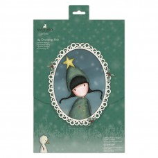 Santoro Gorjuss Girl A4 Decoupage Pack - Wintery Green