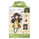 Santoro Gorjuss Girl Rubber Stamps - Santoro - Spring At Last