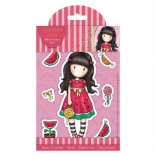 Santoro Gorjuss Girl Rubber Stamps - Every Summer Has A Story