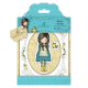 Santoro Gorjuss Girl Rubber Stamps - The Little Friend