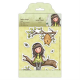 Santoro Gorjuss Girl Rubber Stamps - The Little Leaf