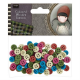Santoro Gorjuss Girl Coloured Wooden Buttons (100pcs) - Tweed