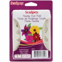 Sculpey - Silicone Flexible Reusable Push Mold Flowers & Leaves