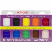 Sculpey - Sampler Clay 10x Most Popular Colours - Classic