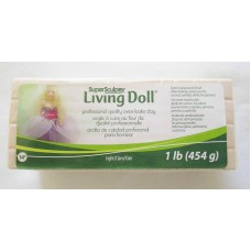 Sculpey - LIVING DOLL - Polymer Clay - 454g Light Beige Skin Colour Ivory