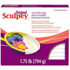 Sculpey - ORIGINAL Oven Bake Polymer Clay - 794g Block (1.75lb) - WHITE