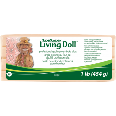 Sculpey - LIVING DOLL - Polymer Clay - 454g Beige Skin Colour