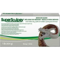 Sculpey - Medium Blend Oven Bake Polymer Clay Grey 1lb 454gm