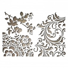 Sizzix Tim Holtz Thinlits Die ~ MIXED MEDIA #2 ~ Alterations 661185 Lace