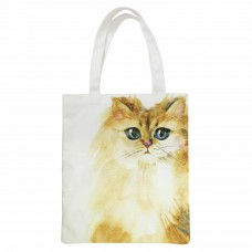 Splosh Art of Cats Tote Bag - Yellow Cat