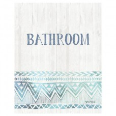 Splosh Bohemian Blue - Bathroom Door Sign