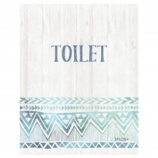 Splosh Bohemian Blue - Toilet Door Sign