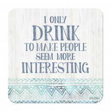 Splosh Bohemian Blue - Coaster - Drink to Make People Interesting
