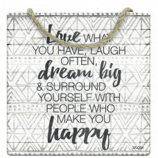 Splosh Tribal - Hanging Sign - Love Dream Happy Laugh