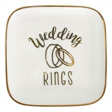 Splosh Wedding Rings Trinket Plate