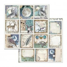 "Stamperia - Double Face Scrapbooking 12x12"" Paper Cosmos Space Cards Images"