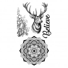 Stamperia - Rubber Stamp 10x16cm - Cosmos Deer