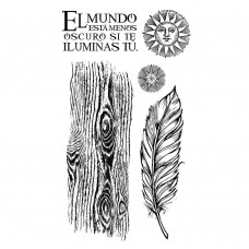 Stamperia - Rubber Stamp 10x16cm - Cosmos feather
