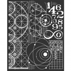 Stamperia - THICK STENCIL 20X25 CM COSMOS ASTRONOMY AND NUMBERS