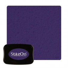Tsukineko Staz On - Solvent Ink pad - Royal Purple